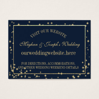 Starry Sky Wedding Information Insert