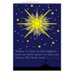 starry sky with crosses  luke 2:14 card
