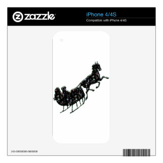 Starry Sled iPhone 4S Skins