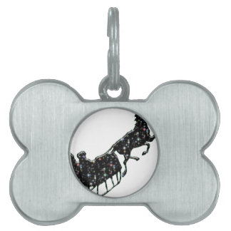 Starry Sled Pet ID Tag