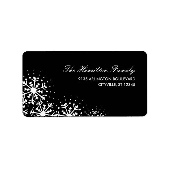 Starry Snowflakes Holiday Address Label