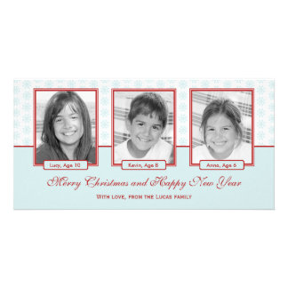 Starry Snowflakes Holiday Photo Card Photo Card Template