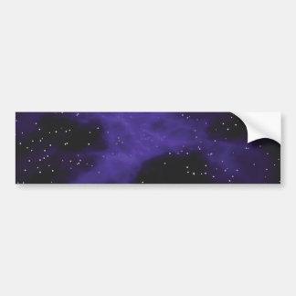 Starry Space Nebula Scene Bumper Sticker