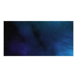 Starry Space Scene Custom Photo Card