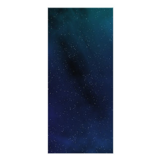 Starry Space Scene Rack Card