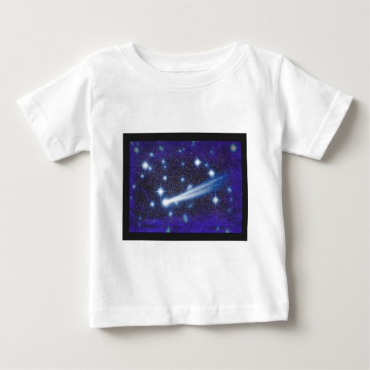 Starry Space Sky & Asteroid Baby T-Shirt