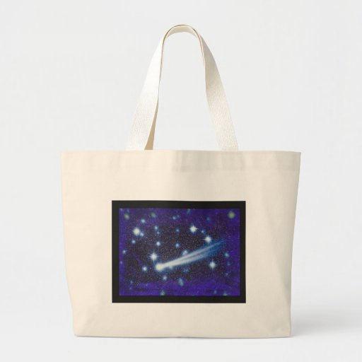 Starry Space Sky & Asteroid Canvas Bag