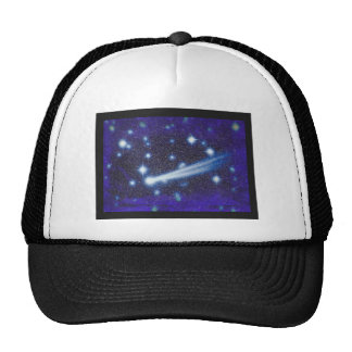 Starry Space Sky & Asteroid Mesh Hats