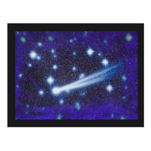 Starry Space Sky & Asteroid Post Cards