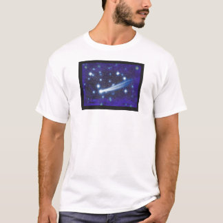 Starry Space Sky & Asteroid T-Shirt
