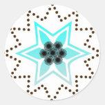 Starry star design sticker