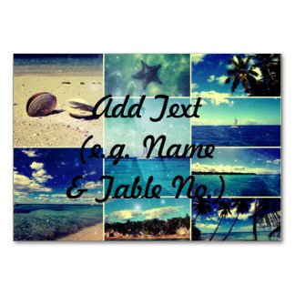 Starry Starry Caribbean Collage Table Card