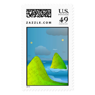 Starry Starry Islets Stamp