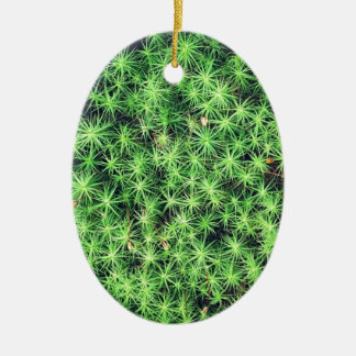 Starry starry moss Double-Sided oval ceramic christmas ornament