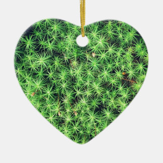 Starry starry moss Double-Sided heart ceramic christmas ornament