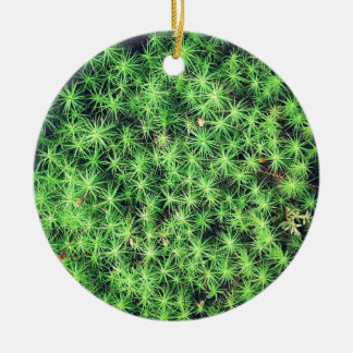 Starry starry moss Double-Sided ceramic round christmas ornament