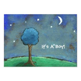 Starry Starry Night It's A Boy! From Original Art Card