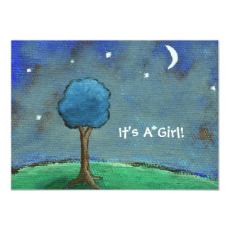 Starry Starry Night It's A Girl! From Original Art Card