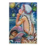 Starry, Starry Night Mermaid Poster
