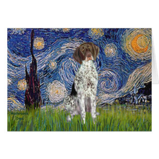 Starry State - German Short Haired Pointer Card