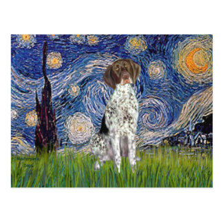 Starry State - German Short Haired Pointer Postcard