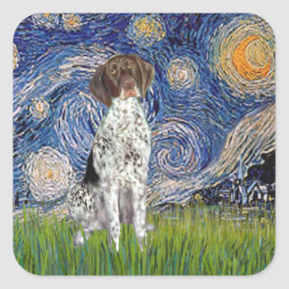 Starry State - German Short Haired Pointer Square Sticker