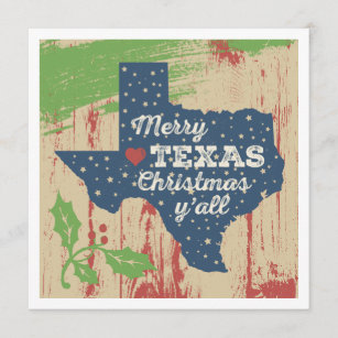 Texas Christmas Cards.Starry Texas Card Merry Texas Christmas