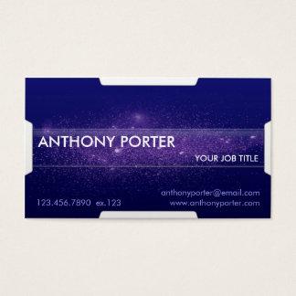 Starry Texture - Blue Business Card