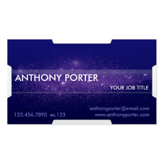 Starry Texture - Blue Business Card Templates