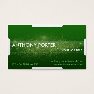 Starry Texture - Green Business Card