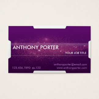 Starry Texture - Purple Business Card