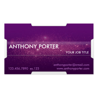Starry Texture - Purple Business Card Template