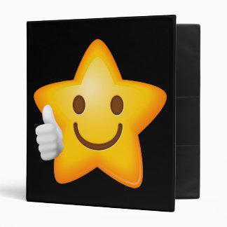 Starry Thumbs Up Emoji 3 Ring Binder
