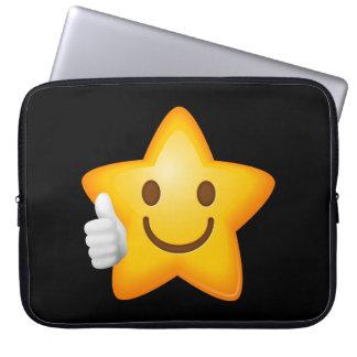 Starry Thumbs Up Emoji Laptop Sleeve