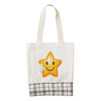 Starry Thumbs Up Emoji Zazzle HEART Tote Bag
