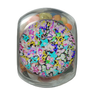Starry  'Tookii Art' Jelly Belly Candy Jars