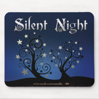 Starry Trees Silent Night Mouse Pad