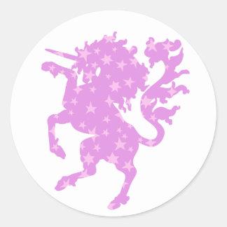 Starry Unicorn Classic Round Sticker