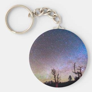 Starry Universe Basic Round Button Keychain