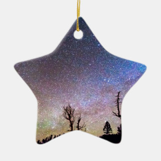 Starry Universe Double-Sided Star Ceramic Christmas Ornament