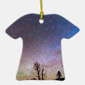 Starry Universe Double-Sided T-Shirt Ceramic Christmas Ornament