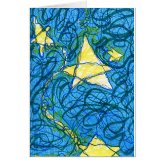 Starry Vibrato Greeting Card