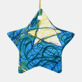 Starry Vibrato Double-Sided Star Ceramic Christmas Ornament