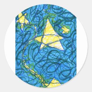 Starry Vibrato Classic Round Sticker