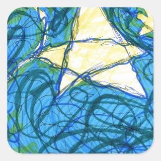 Starry Vibrato Square Sticker