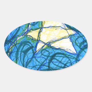 Starry Vibrato Oval Sticker