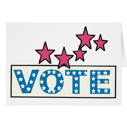 Starry Vote Greeting Card