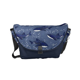 Starry Whale Shark (Dark) Small Messenger Bag