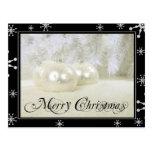 Starry White Christmas Postcards