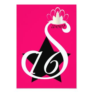 Starry White Swan Sweet Sixteen -Customize Card